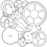 The Crafters Workshop - 12 x 12 Template - Gears
