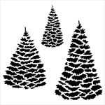 The Crafters Workshop - 6 x 6 Template - Mini Evergreens
