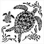 The Crafters Workshop - 12 x 12 Template - Sea Turtles