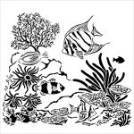 The Crafters Workshop - 12 x 12 Template - Aquarium