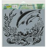 The Crafters Workshop - 12 x 12 Template - Dolphins