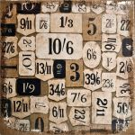 Tim Holtz - Idea-Ology - District Market - Burlap Panel - Numeric