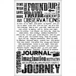 Tim Holtz - Idea-ology - Remant Rubs - Words