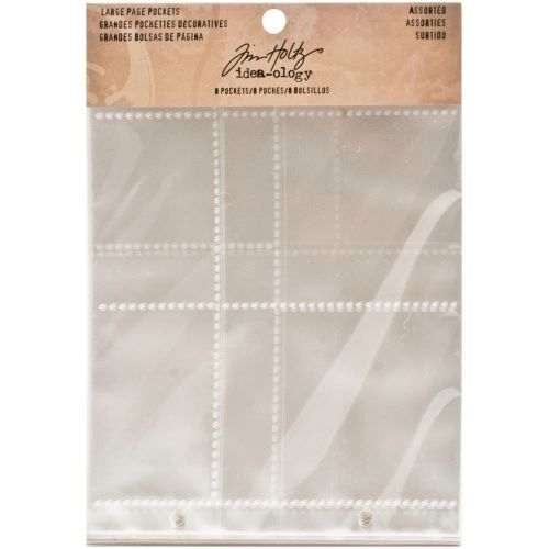 Tim Holtz - Idea-ology - Large Page Pockets - Assorted