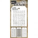 Tim Holtz - Collection - Stampers Anonymous - Mini Layered Stencil Set 3/Pkg - Set #33