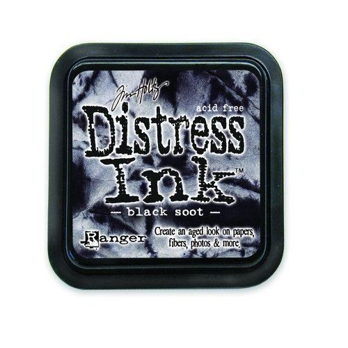Tim Holtz Distress Ink Pad by Ranger - Black Soot
