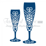 Tattered Lace Dies - Champagne Glasses