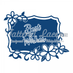 Tattered Lace Dies - Best Wishes Starlight Plaque