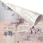 "Prima Marketing Inc - Lavender - Rose Gold Foiled D/S C/S 12""X12"" - Through The Years"