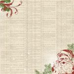 "My Mind's Eye - Vintage Christmas -12x12"" Double Sided Patterned Glittered Paper - Dictionary Paper"
