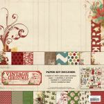My Mind's Eye - Vintage Christmas - Paper and Accessories Pack
