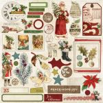 My Mind's Eye - Vintage Christmas - 12x12 Sticker Accessories