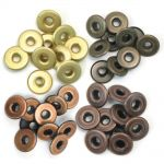 We R Memory Keepers - Wide Eyelets - 40/Pkg - Warm Metal