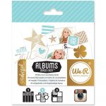 We R Memory Keepers - Teresa Collins Albums Made Easy Journaling Cards - Studio Gold