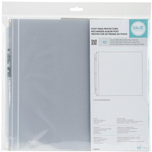 We R Memory Keepers - POSTBOUND Page Protectors Ring 12x12 10pk