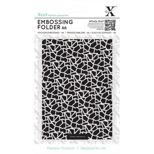 Do Crafts - Xcut Embossing Folder - A6 - Cracked Tiles