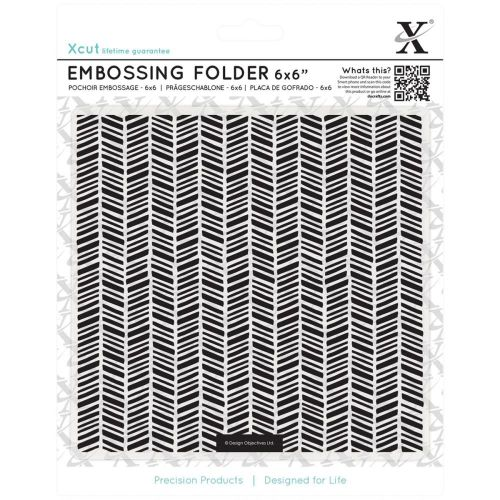 "Do Crafts - Xcut Universal 6""X6"" Embossing Folder - Herringbone Pattern"