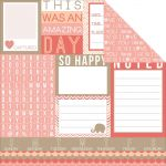 "Teresa Collins Designs - You Are My Happy - 12x12"" Paper - Noted Tags"