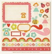 My Minds Eye - Alphabet Soup - Girl Cardstock Accessories Sheet