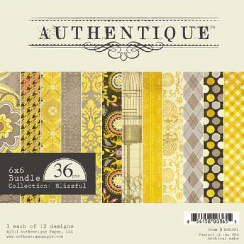 Authentique - Blissful - 6X6 Bundle