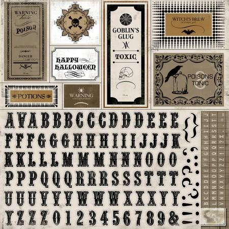 Carta Bella - All Hallow's Eve - Alpha Stickers