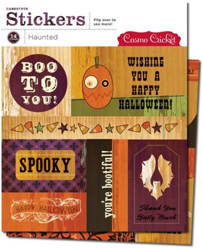 Cosmo Cricket - Haunted - Cardstock Stickers