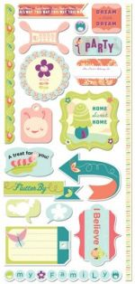 COSMO CRICKET - SUMMER 2010 - PIXIE-LICIOUS - CARDSTOCK STICKERS