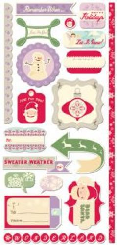 COSMO CRICKET - SUMMER 2010 - MITTEN WEATHER - CARDSTOCK STICKERS