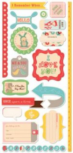 COSMO CRICKET - SUMMER 2010 - TOGETHERNESS - CARDSTOCK STICKERS