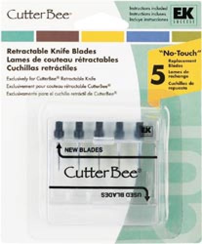 Cutter Bee Retractable Knife Replacement Blades 5 Pack.