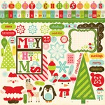 Echo Park - Everybody Loves Christmas - 12x12 Elements Sticker