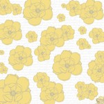 Teresa Collins Designs: Everyday Moments: Yellow Flowers Paper