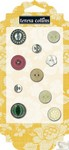 Teresa Collins Designs: Fabrications Canvas: Chipboard Buttons