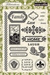 Teresa Collins Designs: Fabrications Linen: Stamps