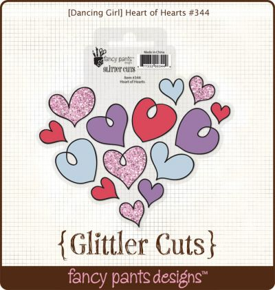 Fancy Pants - Dancing Girl Heart of Hearts Glitter Cut