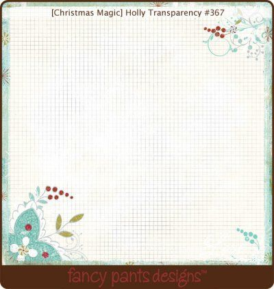 Fancy Pants - Christmas Magic Holly Overlay