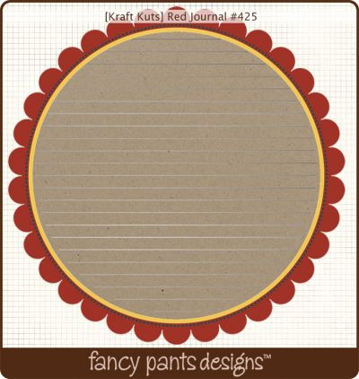 Fancy Pants - Kraft Kuts - Red Journal Die Cut