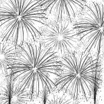 Impression Obsession - Cover-A-Card - Cling Mount Rubber Stamp - Fireworks