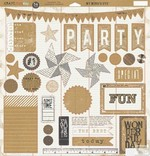 My Minds Eye - Kraft Funday -Everyday Fun - Chipboard Elements