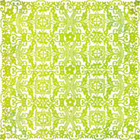 Basic Grey - Lemonade Doilies Tablecloth (green)