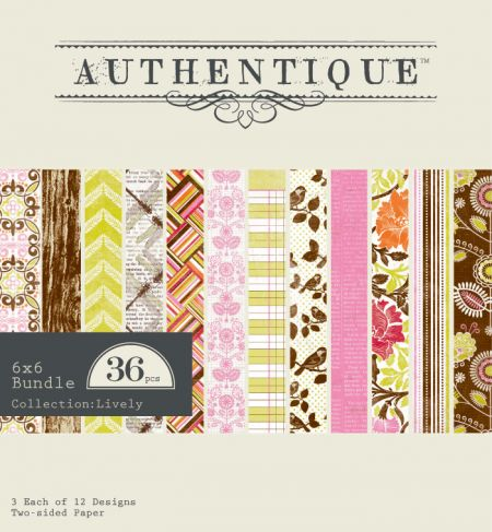 Authentique - Lively - Bundle - 6 x 6 Pad