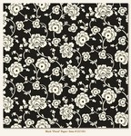 My Minds Eye - Lush - Black Floral Paper