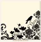My Minds Eye - Lush - Black Finch Paper (flocked)