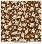 My Minds Eye - Lush - Brown Floral Paper