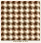 My Minds Eye - Lush - Brown Houndstooth Paper