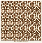 My Minds Eye - Lush - Brown Damask Paper