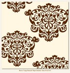 My Minds Eye - Lush - Brown Large Damask (flocked)