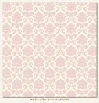 My Minds Eye - Lush - Pink Damask Paper (flocked)