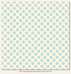 My Minds Eye - Lush - Blue Large Polka Dot Paper (flocked)
