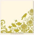 My Minds Eye - Lush - Green Finch Paper (flocked)